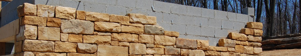 stone dressed block wall